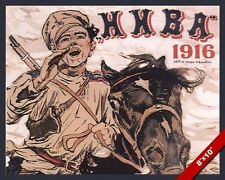 WWI RUSSIAN CAVALRY SOLDIER PROPAGANDA POSTER PAINTING REAL CANVAS WAR ART PRINT
