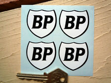 BP Classic Car STICKERS Black & White Shield Set of 4 37mm  Bike Motorcycle Race