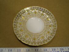 Gilman Collamore Raised Gold Detail Trimmed Tea Cup Saucer Cauldon England 3599