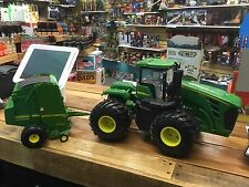 ERTL 1/16 BIG FARM JOHN DEERE 9630 TRACTOR 4WD (LIGHTS/SOUNDS) & 568 ROUND BALER