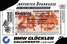 TICKET DFB-Coppa 90/91 Concordia Frankfurt-SV fine ricercato Brema