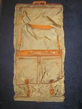 HARTMANN LUGGAGE Hanging Garment Bag Softside Nylon Belting Leather Trim VINTAGE