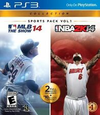 PlayStation 3 Collection Sports Pack Vol. 1 MLB 14 The Show NBA 2K14 PS3