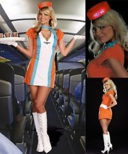 Sexy Ladies Air Hostess Costume Trolley Dolly Flight Attendant Costume