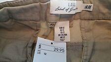 """H&M khaki beige skirt 17"""" length, size 12"""