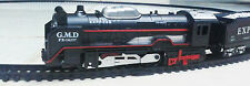 Stylish Old Steam Engine Light Battery Operated Train Set Toy