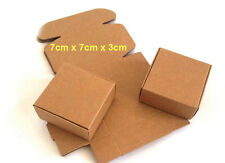 100x Kraft Paper Gift Boxes DIY Party Candy Jewelry Wedding Wrap Soap Packaging