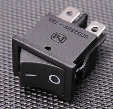 2x Black Rocker Switch DPST ON/OFF Snap in Panel Mount 10A 125VAC Button - USA