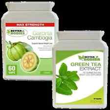 60 Garcinia Cambogia 1000mg & 60 extracto de té verde 850mg pérdida De Peso Dieta Pastillas