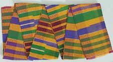 4.5x60 inch Authentic African Kente Cloth Stole Scarf made in Ghana, Multicolor