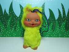 """RARE GERMAN YELLOW CAT TROLL - 4"""" - NEW WITH TAG - Last One In This Color."""
