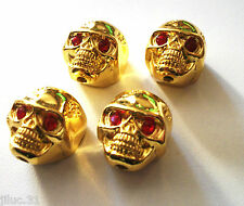 NEW 4 KNOBS METAL SKULL gold - bouton pour guitare Gibson, Epiphone,Fender...