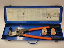Thomas & Betts TBM6S Manual Crimper with 2 sets of Sta-Kon dies, R4