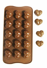 Silicone Heart Chocolate Mould Tray Bakeware Ice Cube Cake Decorating Jelly Mold