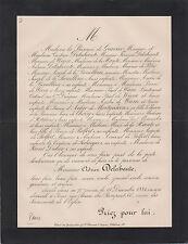 § FAIRE-PART DÉCÈS ADRIEN DELAHANTE (Mâcon, 1815 - Paris, 1884), FINANCIER §