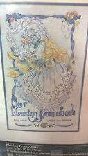 Bucilla Crewel Embroidery Kit Blessing From Above 41688 VTG Newborn Baby