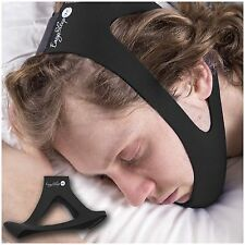 EasySleep Pro Adjustable Stop Snoring Chin Strap Jaw Belt Sleep TMJ Support NEW