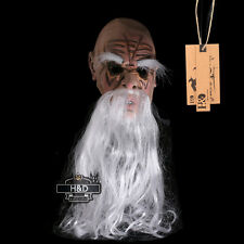 Scary Latex White-bearded Old Man Halloween Mask Masquerade Costume Party Props
