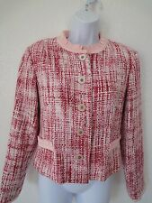 CO-OP beautiful tweed textured cropped blazer jacket size M pink new NWOT