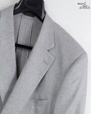 """NWT Paul Stuart """"Stuart III"""" 100% Silk Light Gray Unlined Blazer Sz. 50 L"""