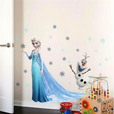 DIY Cartoon Fairy Tale Elsa Mural Wall Sticker Decals Girls Room Decor Vinyl Art