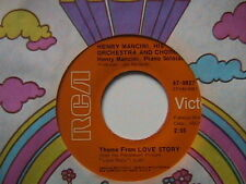 """THEME FROM LOVE STORY SOUNDTRACK"" / ""PHONE CALL TO PARADIS"" 7"" 45 HENRY MANCINI"