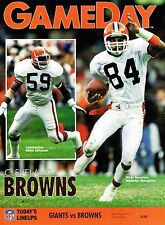 1991 New York Giants Home vs Cleveland Browns NFL Football Program