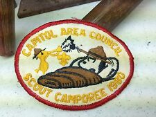 CAPITOL AREA COUNCIL BOY SCOUT OF AMERICA SCOUT CAMPOREE 1980 VINTAGE PATCH