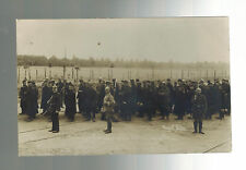 Mint WW 1 Captured Prisoners of War by Altengrabow Germany Real picture Postcard