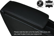 BLACK STITCH ARMREST LID LEATHER COVER FITS RENAULT SCENIC GRAND SCENIC 09-15