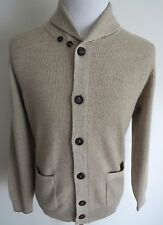 $2360 BRUNELLO CUCINELLI 2Ply English Rib Cashmere Cardigan Sweater Size 50 Euro