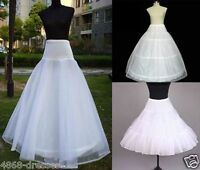 NEW BRIDAL WEDDING DRESS PROM PETTICOAT HOOPS UNDERSKIRT CRINOLINE REGULAR WAIST