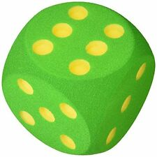 Volley 160 x 160 x 160 mm Foam Dice with Countersunk Dots (Green)