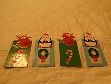 Lot of 4 Cute Small Christmas Gift Bags Penguin Reindeer