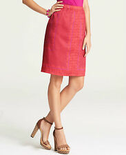 Brand New Ann Taylor Exotic Paisley Handkerchief Skirt Color Red Size 14