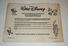 8 Picture Walt Disney Super 8 Movie Projector Title Cards Original Paper Sleeve
