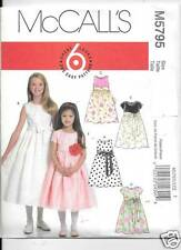 M5795 GIRLS/CHILDRENS  LINED DRESSES  SIZE 7-14  MCCALLS  SEWING PATTERN 5795