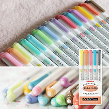 15 Color - Zebra Mildliner Soft Color Double-Sided Highlighter Marker RC NC N5C
