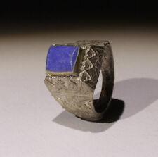 BEL POST Medievale Argento e Lapis Anello-nessun prezzo di riserva!!!