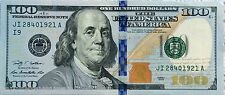 1 $100 dollar Federal Reserve Note 2009,2009A lightly circulated Fast Shipping!