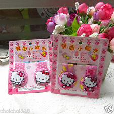 New Hello kitty Glitter Magnetic Magnets Bookmark / Clips x 2pcs HM05