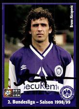 Bruno Akrapovic AUTOGRAFO biglietto Tennis Borussia Berlin 1998-99 ORIGINALE si+a47060
