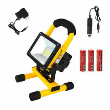 30W Rechargeable 24LED Floodlight Work Light Portable Caravan Camping Lamp+18650