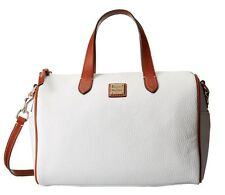 Classic! Dooney & Bourke LEATHER Olivia Satchel in WHITE, Brand New with Tags!