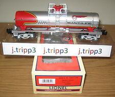 LIONEL 6-29644 SANTA FE SF WARBONNET SINGLE DOME TANK CAR TOY TRAIN O GAUGE ATSF