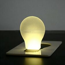 2x Ultra-slim and Portable Credit Card Shaped LED Pocket Bulb White