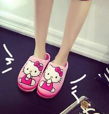 New Cute Hello Kitty Grils Winter Home Soft Plush Slippers Shoes (US size 5-8)