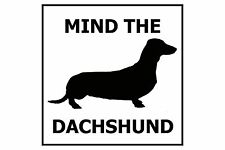 Mind the Dachshund - Gate/Door Ceramic Tile Sign