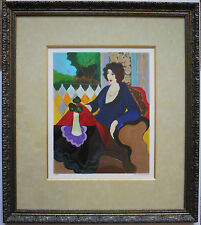 "Itzchak Tarkay ""Quiet Moments"" Framed Limited Edition Serigraph Hand Signed COA"