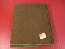 WWII Era US Army Brown Wool Blanket - Dated 1944 - Very Nice Condition